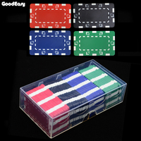 36 шт./100 шт./200 шт./лот высокое качество квадратный 32 г abs Фишки для покера монеты 12 Цветов без лица значение чип наборы для ухода за кожей Техас...