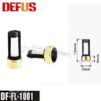 500 개/대/세트 12*6*3mm 상단 피드 자동차 부품 범용 마이크로 바구니 연료 인젝터 필터 자동차 인젝터 수리 DF-FL-1001