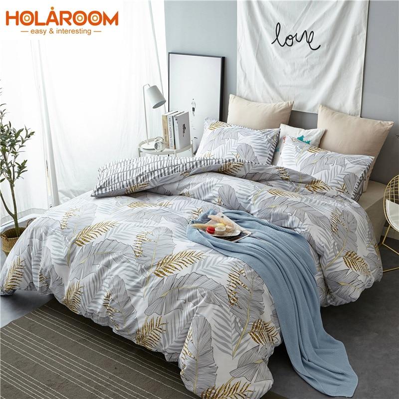 Home Decor Duvet Cover Set Leaves Pattern Bedding Set Twin