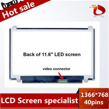 Original A+ 11.6 inch lcd matrix for ACER Aspire V5 series model ZHG laptop lcd screen display 40pin 1366*768