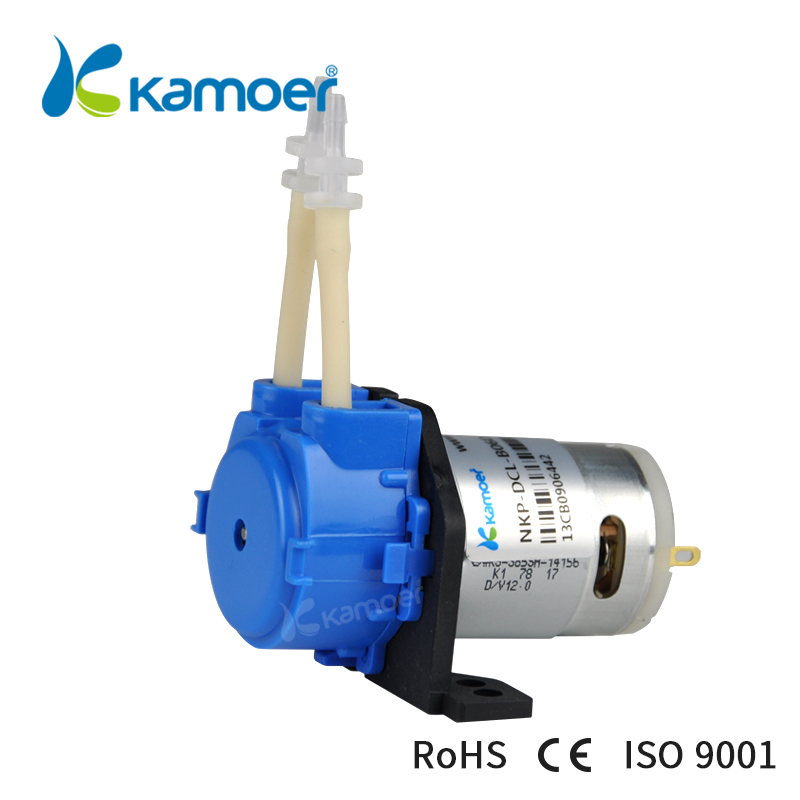 Kamoer NKP Peristaltic Pump (Mini DC Water Pump 12V/24V, BPT/Silicone Tubing, Free Shipping, Straight/L Type)