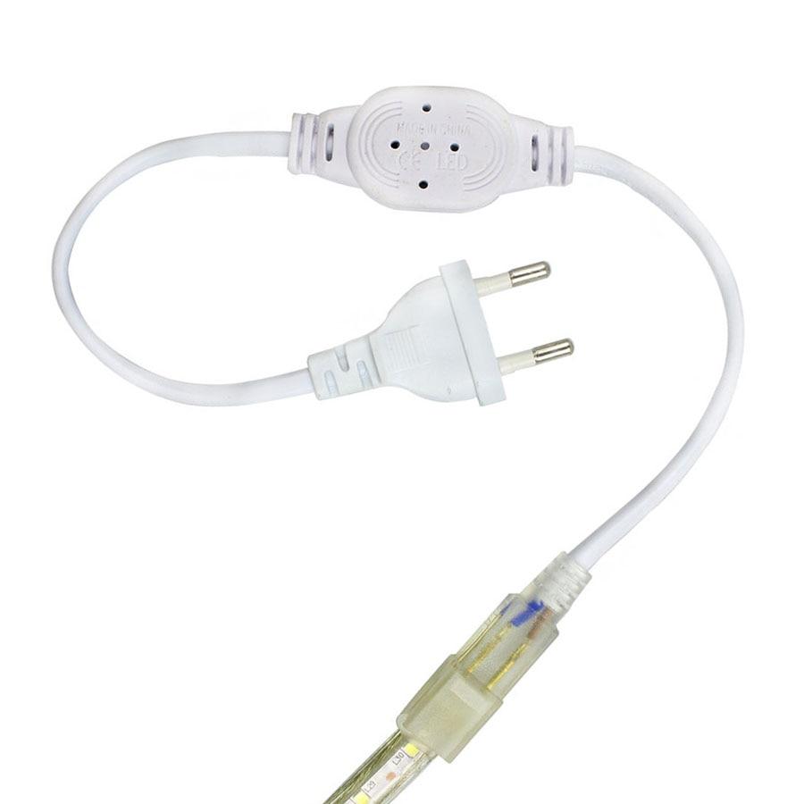 220V Led Strip Light EU Power Adapter Plug For Flexible Led Tape Ribbon Light 2835 5050 3014