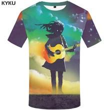 dba45c041d590 KYKU Brand Skull T shirts Men Music Tshirts Casual Graffiti Print Art Tshirt  Homme Colorful Tshirt Printed Short Sleeve Printed