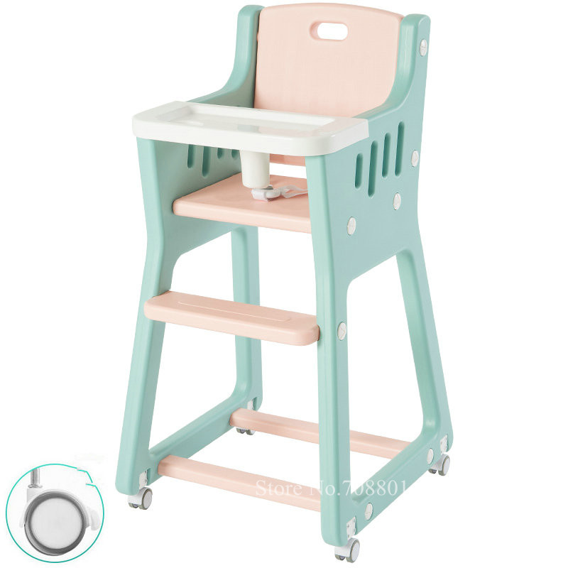 Factory Outlet Lightweight Baby Highchair with 4 Wheels, Washable Baby Dining Seat With Leather Seat Cover, Cut Baby Feed ChairFactory Outlet Lightweight Baby Highchair with 4 Wheels, Washable Baby Dining Seat With Leather Seat Cover, Cut Baby Feed Chair