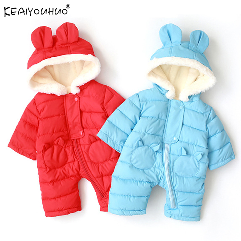 Coats Outerwear Newborn Jackets Hooded Long-Sleeve Baby-Girl Winter Cotton for Kids Jumpsuits