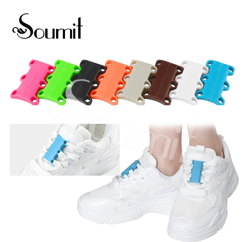 Shoe Laces Casual Sneakers Magnetic Shoe Buckles Shoe Laces Closure Shoelaces Buckles Set