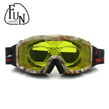 FunSeries Skiing Eyewear Men Women Snowboard Goggles Snow  Anti-fog Ski Goggles Can Be Installed Myopia Glasses
