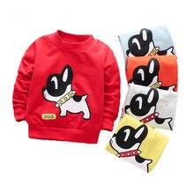 Футболки для малышей хлопковые футболки с рисунком собаки для маленьких мальчиков, Весенняя детская одежда с длинными рукавами футболки для маленьких мальчиков милые топы