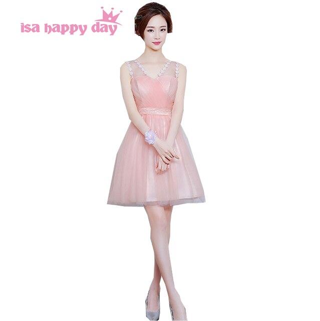 short princess pretty simple lovely sweet 16 prom dresses light pink ...