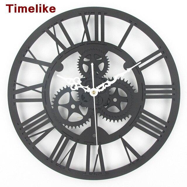 Vintage Grsse Getriebe Uhr Quarz Dekorative Wand Watches12 Zoll Europischen Archaize Wanduhr Wohnzimmer