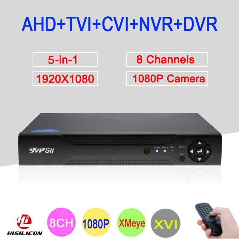Hi3521A XMeye, 8 каналов, 8CH, 1080P, Full HD, видео регистратор, камера наблюдения, 6 в 1, гибрид, Wi-fi, Onvif, NVR, TVI, CVI, AHD, DVR, бесплатная доставка Видеорегистратор ...
