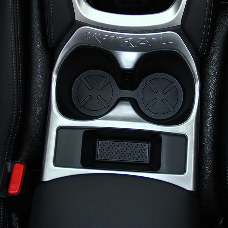Pour 2014-2016 2017 Nissan X-Procès X Procès Interne Tasse D'eau Cadre Couverture ABS Chrome Porte-Gobelet boîte Garnitures De Voiture Accessoires de Coiffure