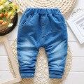 Verano de 2016 bebé recién nacido niño y niña sólido color jeans de marca pantalones de los niños 1-2 años del muchacho Libre gratis