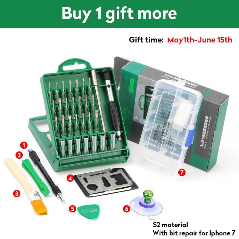 Přesné šroubováky 32 v 1 S2 multifunkční cenová sada šroubováků sada nástrojů pro opravu hodinek pro mobilní telefony
