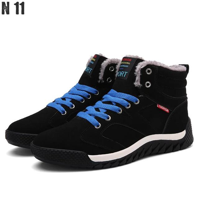 Hot Sale 2016 Fashion Men Winter Snow Boots Keep Warm Boots Plush Ankle Boot Snow Work Shoes Casual Men's Snow Boots Size 39-45