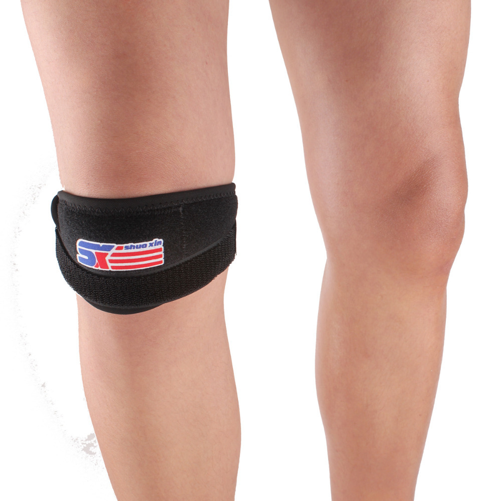 1PCS Free Shipping SX620 Sports Leg Knee Patella Support Brace Wrap Protector Pads Band Black
