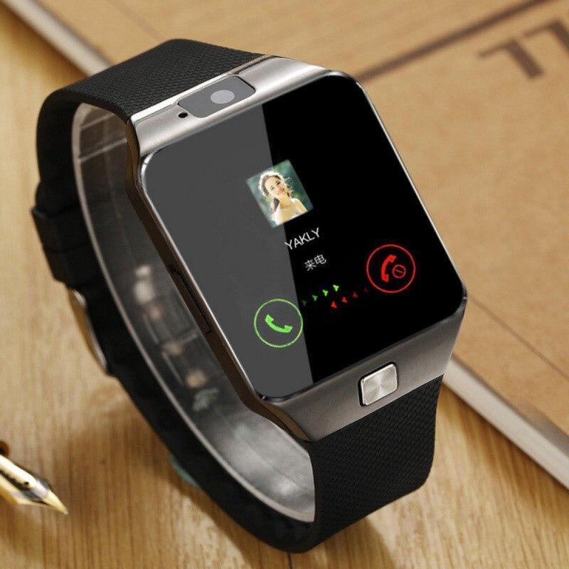 Tela de toque bluetooth relógio inteligente dz09 com câmera sim cartão smartwatch para iphone samsung android smartphone