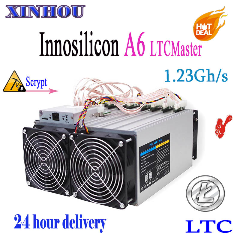 LTC MINER Innosilicon A6 LTCMaster 1.23GH/s 1500 W Litecoin Scrypt Asic miner mieux que antminer L3 + R1-LTC Innosilicon A4 +