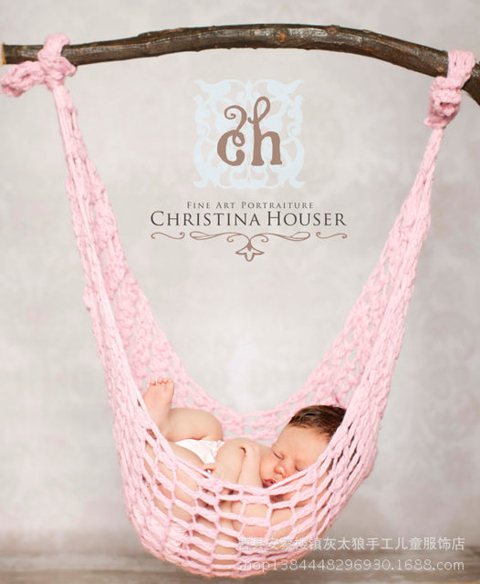 PINK COLOR newborn Baby Hammocks photography  baby basket Leisure Swinging hanging hammock rocking chair indoor  outdoor