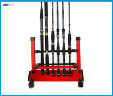 Aluminum Alloy Red color Fishing Rod Rack Holder Stand EXPO Support Tackle