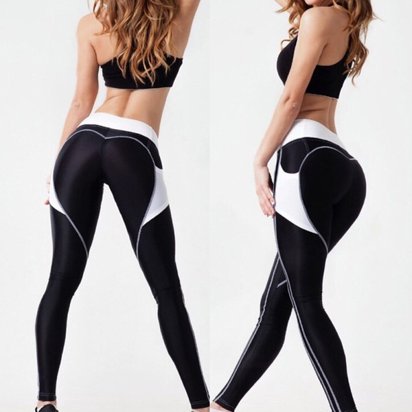 Womens Running Yoga Fitness Leggings Gym Sports Pants Compression Trousers S-XL