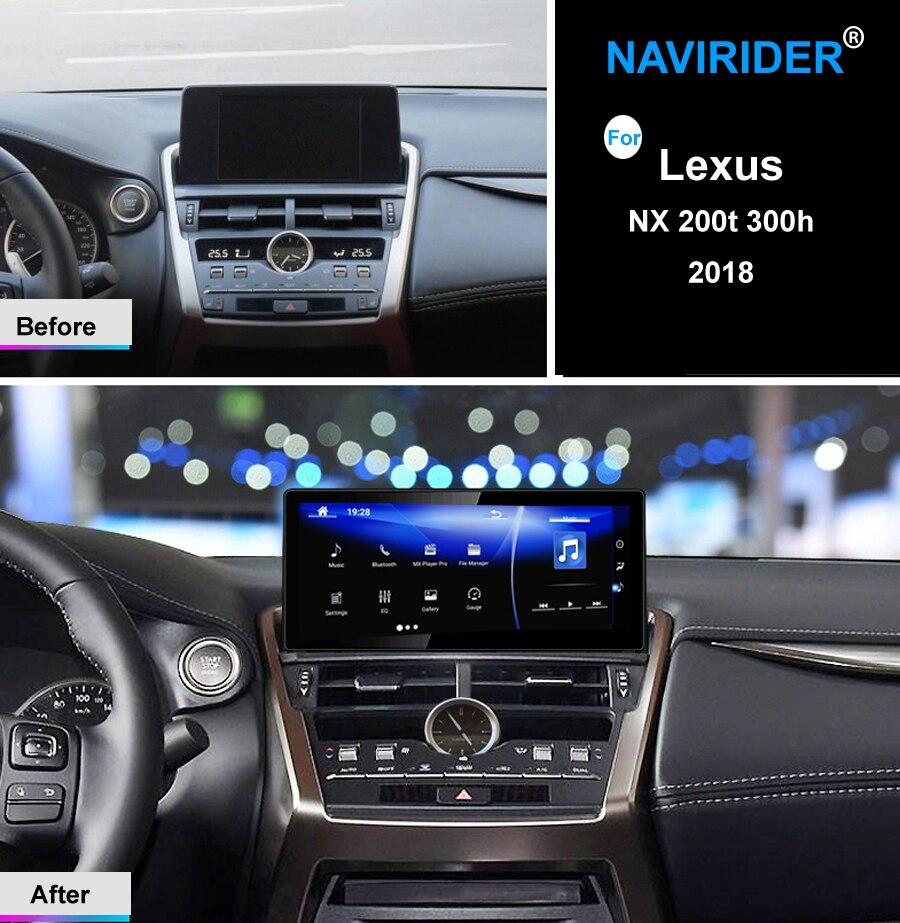 Sistema Dual mantener original ratón android 7,1 octa core coche dispositivo de navegación gps para Lexus NX 200 t 300 h 2018 RADIO multimedia HU