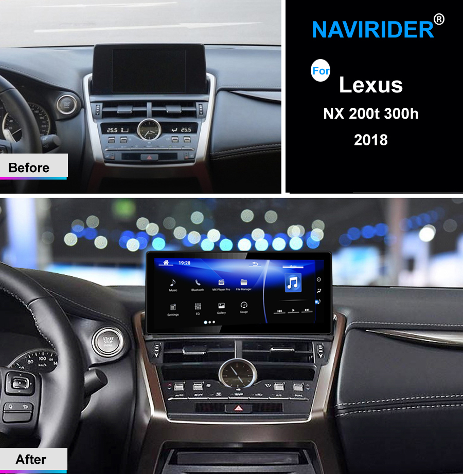 Sistema Dual manter original Do Mouse android 7.1 octa núcleo dispositivo de navegação gps do carro para Lexus NX 200 t 300 h 2018 multimídia RÁDIO HU