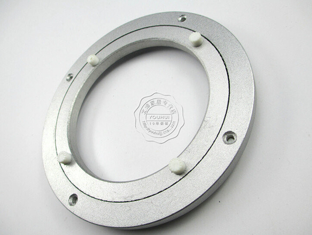 18 дюйма (442 мм) Алюминиевый сплав круглый стол Универсальный проигрыватель с подшипником стекло поворотный стол плиты