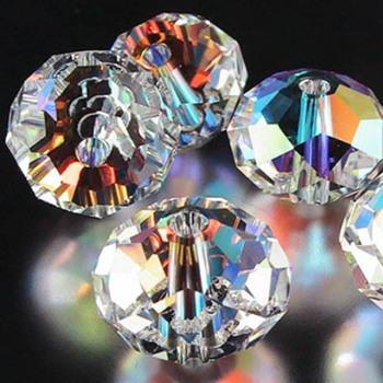 Darmowa wysyłka chiny najwyższa jakość aaa 5040 biały AB kryształowe koraliki 4MM 6MM 8MM 10MM 12MM 14MM paciorki szklane kryształowe koraliki rondelles tanie i dobre opinie zawieszki moda KRYSZTAŁ 110g Okrągły w kształcie brylantu AAA Upscale crystal Full refund if product are not ok 4 6 8 10 12 14 MM