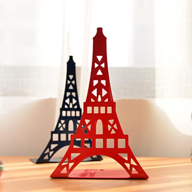 2 pcs/pair Creative Eiffel Tower Design Bookshelf Large Metal Bookend Desk Holder Stand for Books Organizer Gift Stationery декор blau versalles dec eiffel prl 47 2x47 2