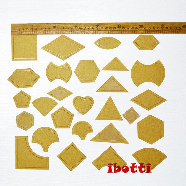 54 teile/satz gemischt quilt vorlagen acryl diy werkzeuge für ...