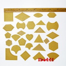 hot deal buy 1 set 54pcs mixed quilt templates acrylic diy tools for patchwork quilter  patchwork sewing textiles handmade costura tool