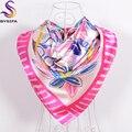 Nuevo Dulce de la Historieta de la Bufanda de Seda Del Mantón de 2016 Accesorios de Moda de Las Señoras Niños Satin Bufandas del Otoño Del Resorte Del Todo-Fósforo Bufandas de Color Rosa