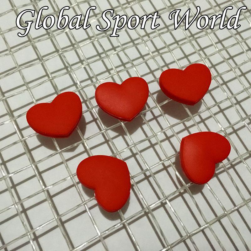 Free Shipping(50pcs/lot)2016 RED Heart Tennis Racket Vibration Dampeners/tennis Racquet