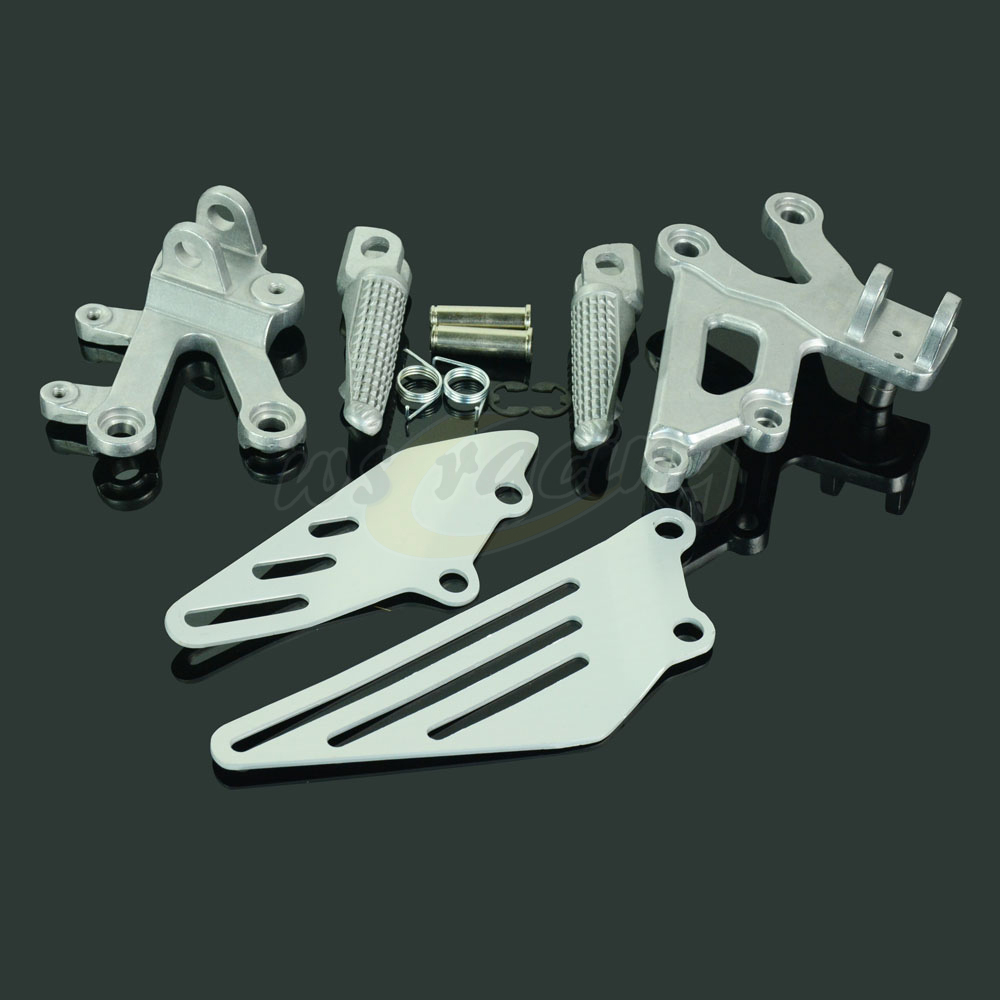 Motorcycle Footrests Front Foot Pegs Pedals Rest Footpegs For KAWASAKI ZX12R 2002-2005 2002 2003 2004 2005