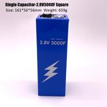 Новая версия супер фарадный конденсатор с алюминиевой крышкой, 2,8 V 3000F 161*56*56 мм супер конденсаторы для передних и задних фонарей Авто Питание