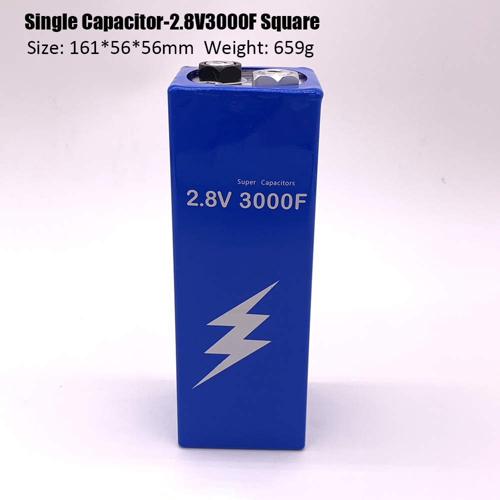 New Version Super Farad Capacitor 2.8V 3000F 161*56*56mm Super Capacitors For Car Vehicle Auto Power Supply