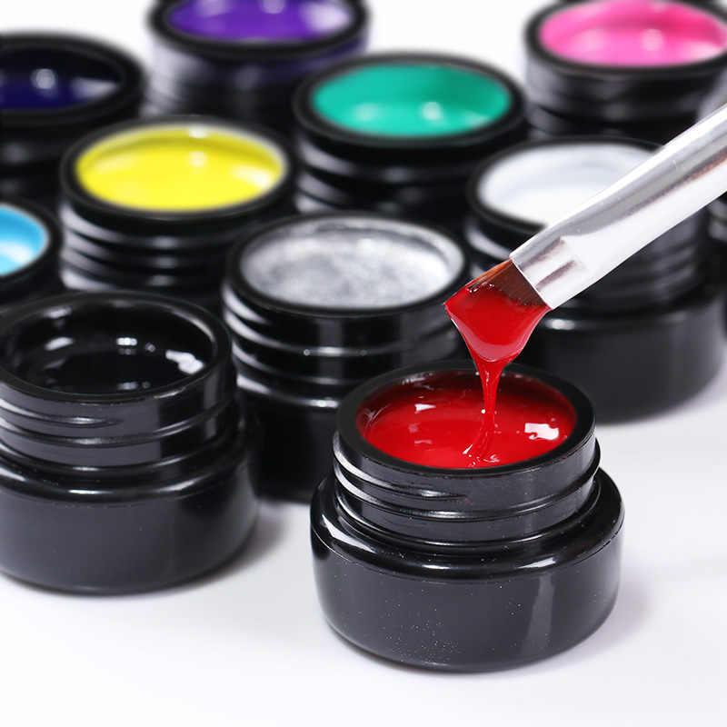 UR sucre peinture Gel Nail Art acrylique peinture couleur Gel dessin UV Gel or argent pur UV couleur LED bricolage vernis à ongles laque 3D