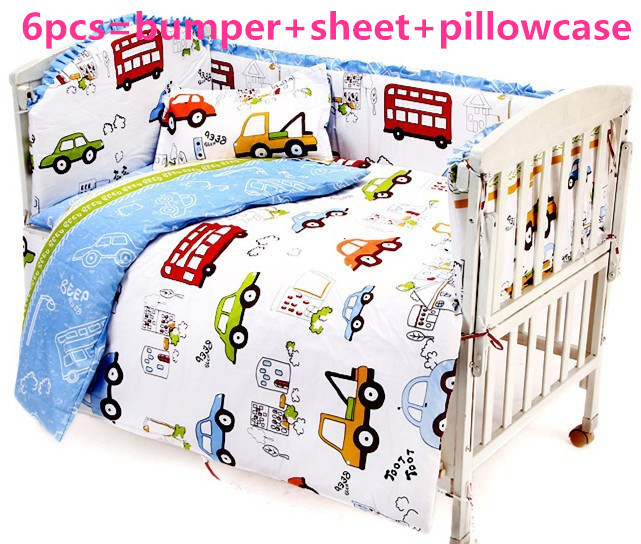 Promotion! 6/7PCS baby bedding set 100% cotton ,Duvet Cover,crib bed set baby bed linen cot jogo de cama ,120*60/120*70cm promotion 6 7pcs cot bedding set baby bedding set bumpers fitted sheet baby blanket 120 60 120 70cm