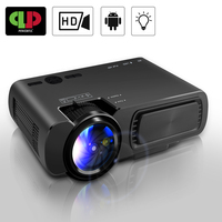 Powerful LED Projector T5 Portable MINI Projector 1800Lumen Resolution Android Smart Full HD Home Theatre Movie Beamer Proyector