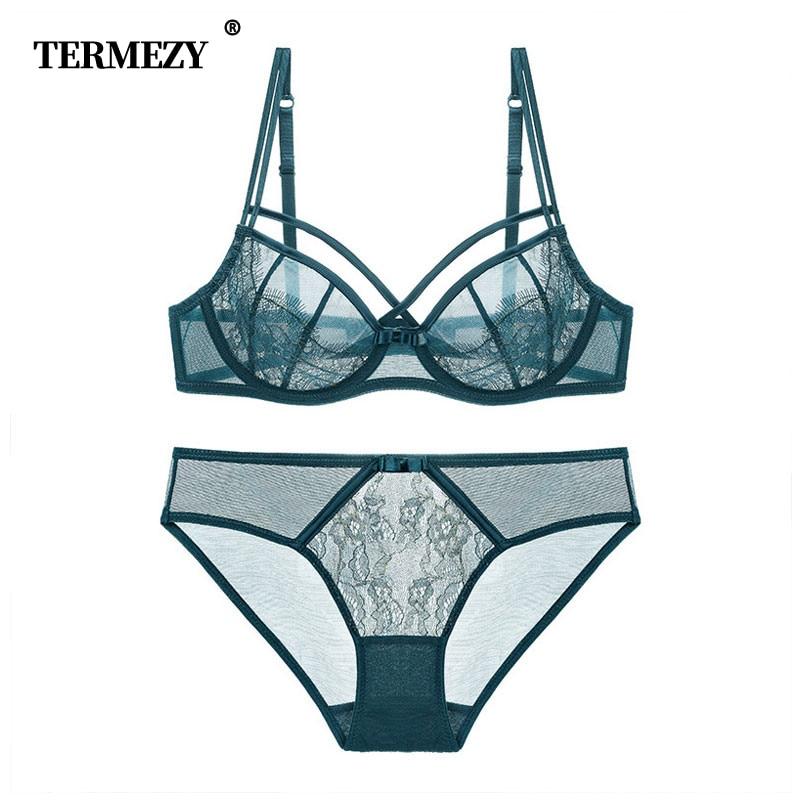 21c411f5f149 TERMEZY Hot conjunto de lencería para mujer, Conjunto de sujetador  ultrafino, ropa interior de ...