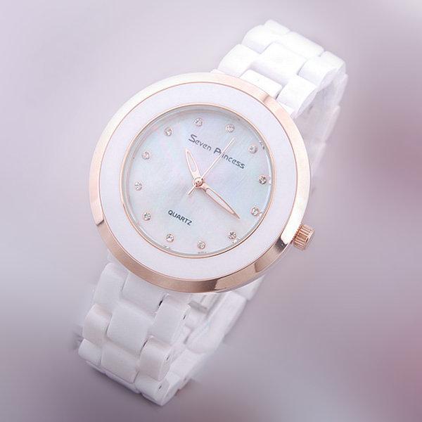 Prix pour Garanti 100% véritable marque de montres en céramique femmes Coloré shell surface heures Japon Mouvement Quartz Montres