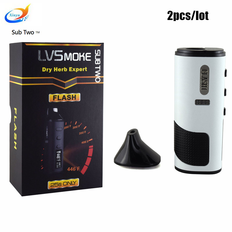 2 pcs/lot LVsmoke flash Cigarette Électronique herbe sèche vaporisateur Tactile Screenbox mod vaporisateur e-cigarette stylo vaporisateur e cigarette