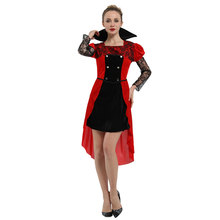 Adult Womens Gothic Maiden Vampire Vampira Costume Halloween Carnival Mardi Gras Party Fancy Dress
