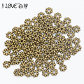 Wholesale 100pcs 6mm Spacers Daisy Flower Metal Gold Tibetan Silver Spacer Beads for Jewelry Making