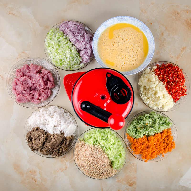500ml-1.5L Alta-capacidade de Multi-função de Cozinha Processador De Alimentos Manual do Moedor de Carne Vegetal Chopper Shredder Cortador Egg Blender