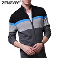 NEW Warm Thick Mens Cardigans Sweaters Men Winter&spring Sweater Cardigan Tops Stand Collar Men slim Casual dress Knitwear