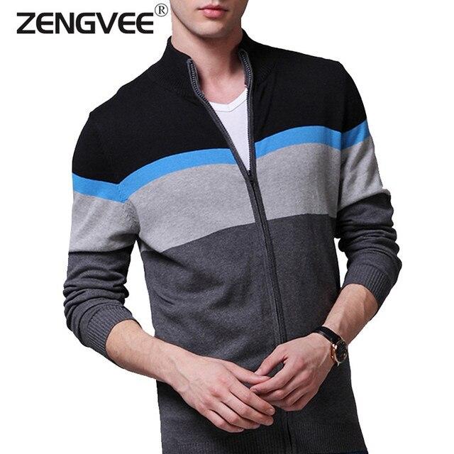 NOVA Mens Cardigans Blusas Homens Inverno Quente Grossa & primavera Sweater Cardigan Tops Gola Men slim Casual Malhas vestido