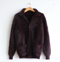 2016mink cashmere sweater men Cardigan sweater coat free shipping