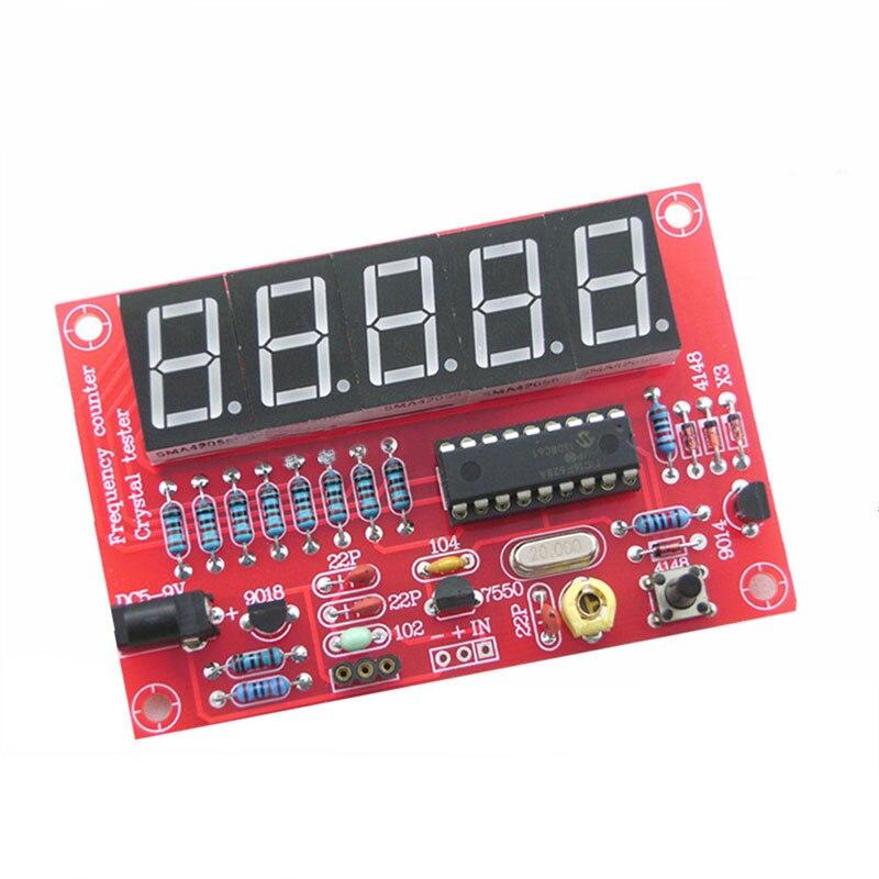2017 1Hz-50MHz Digital LED oscilador de cristal probador contador de frecuencia DIY Kit 5 dígitos resolución medidor de frecuencia -- M25